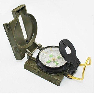 Military Marching Duty Camping Compass With Scale - Army Green , Green