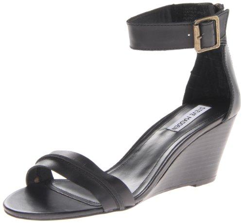Steve Madden Women'S Neliee Wedge Sandal,Black,7.5 M Us front-1062402