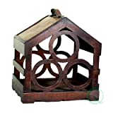 Quickway Imports 3-Bottle Wine Rack, Bird House