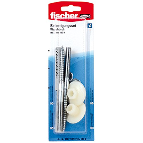 fischer-83627-10-x-140-mm-wst-k-sb-samo-fixing-set-wash-basin-multi-colour-2-piece
