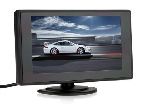 BW 4.3 Inch TFT LCD Screen Adjustable Car Monitor for Vehicle Backup Cameras Security CCTV Camera And Car DVR