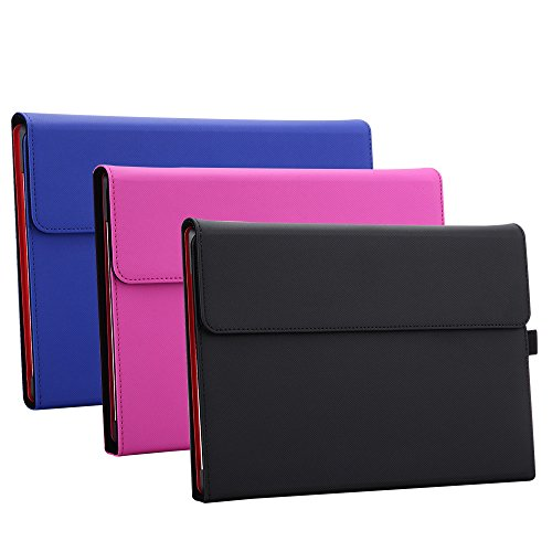 Valkit-For-Surface-3-Leather-Case-Folio-Slim-Fit-PU-Leather-Case-Stand-Cover-With-Stylus-holder-Compatible-With-Surface-Style-Keyboard