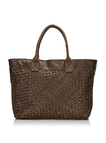 Lisa Minardi Women's Leather Shoulder Bag, Brown