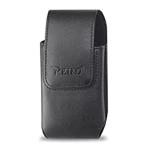 Leather Pouch Protective Carrying Cell Phone Case for HTC HD7 Surround AT&T Google Nexus One / HTC Droid Incredible HTC G2 T-Mobile EVO 4G HTC HD2 / LG Quantum AT&T / Motorola Droid Pro i1 Droid X / Samsung Transform Epic 4G / Fascinate (Galaxy S) (I9000) / Vibrant (Galaxy S) Android T959/ Intensity II Omnia II i8000 Omnia 2 i920 / Sharp Sidekick 2008 - Black