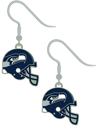 Sports-Team-Seattle-Seahawks-J-Hook-Dangle-Logo-Earring-Set