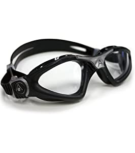 Aqua Sphere Kayenne Goggle With Clear Lens, Black/Silver, Regular