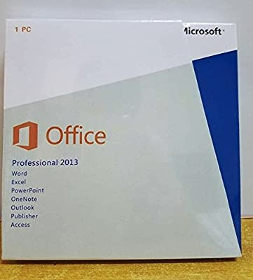 NEW Microsoft Office Professional 2013 32-bit/x64 With DVD For 1PC, No Download