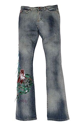 Roberto Cavalli Angels and Devils Jeans OWL, bambina, Colore: Blu Chiaro, Taglia: 176