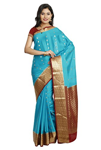 Kaushika Sarees Pure Crepe Traditional Mysore Silk Ananda_Maroon Saree