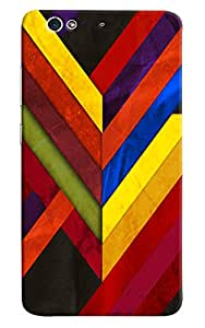 Omnam Colorful Stripes Pattern With Effect Printed Designer Back Cover Case For Gionee S6