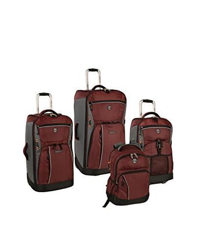 Timberland 4-Piece Danvers River Luggage Set, Chocolate Truffle/Grey