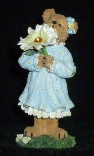 Boyd's Bears Girl Teddy Bear With Flower Figurine