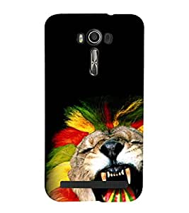 animated glowing tiger face 3D Hard Polycarbonate Designer Back Case Cover for Asus Zenfone 2 Laser ZE500KL :: Asus Zenfone 2 Laser ZE500KL (5 Inches)