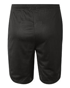 Champion Men's Long Mesh Short With Pockets, Black,LARGE