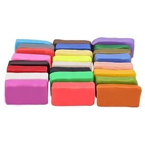 24 Farben Fimo Soft Polymer Ton Clay Knete Modelliermasse Ofen Modellierung Set