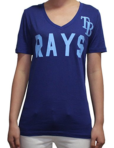 Womens MLB Tampa Bay Rays V-Neck T Shirt by Pink Victoria's Secret S Blue