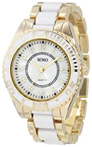 XOXO Women's XO5469 Gold-Tone And White Bracelet Watch