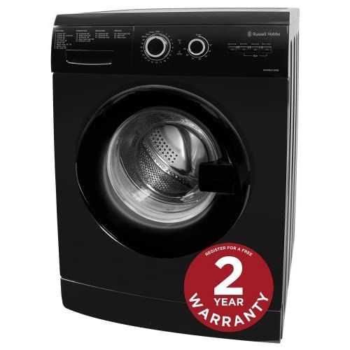 Russell Hobbs Freestanding RHWM61200B 6KG Black 1200 Spin Washing Machine
