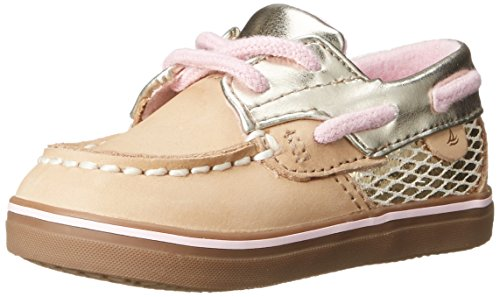 Sperry Bluefish Crib Boat Shoe (Infant/Toddler), Silver Cloud, 3 M US Infant