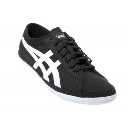 Asics Biku Black & White Men's Canvas Trainers