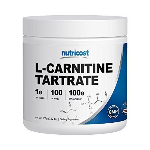 Nutricost L-Carnitine poudre [100 g] - 1 gramme par portion; 100 portions - L-Carnitine Tartrate