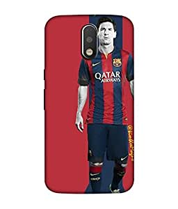 chnno messi 3d Printed Back Cover For Motorola Moto G4 Play