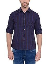 IDENTITI Men's Brown Casual Shirt