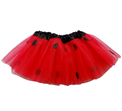 [So Sydney Baby Toddler Girl Superhero Halloween or Birthday Costume Tutu Skirt (Red & Black] (Ladybug Soft Costumes)