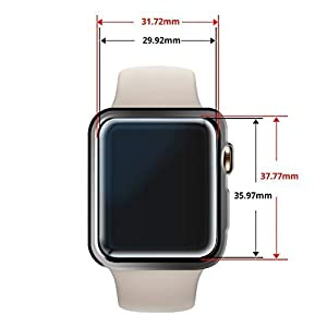 Apple Watch 44mm Screen Protector for 4th and 5th Gen, [Dome Glass] Liquid Adhesive for Full Coverage Tempered Glass and Protection by Whitestone for The Apple Watch Series 4 and 5 (2 Pack Glass) (Tamaño: For Apple Watch 44mm)