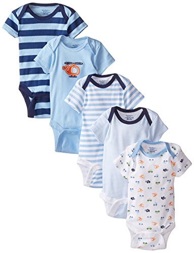 Gerber Baby-Boys Variety Onesies Brand Bodysuits, Transportation, 6-9 Months (Pack of 5)