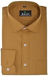 Basil Men's Formal Shirt (BA310PS15FSF, Goldenrod, 40)