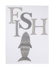 Fish Appliqué Tea Towel