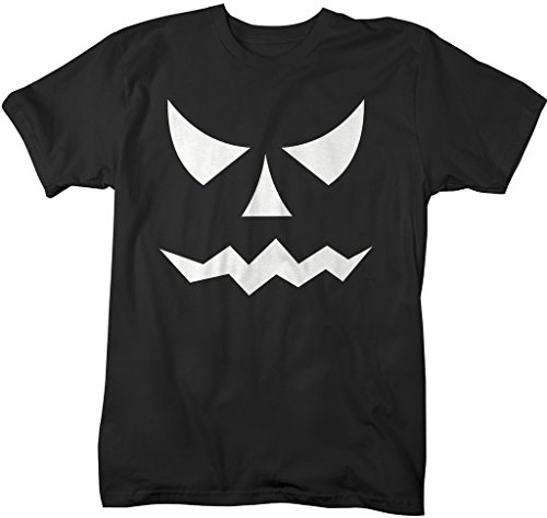 Shirts By Sarah Men's Glow In The Dark Halloween T-Shirt Scary Pumpkin Face
