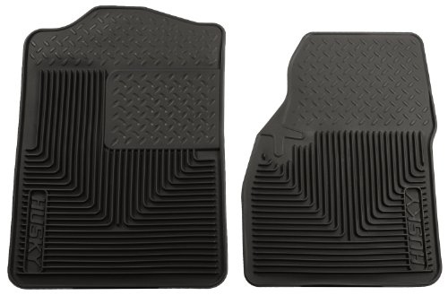 Husky Liners 51041 Semi-Custom Fit Heavy Duty Rubber Front Floor Mat - Pack of 2, Black (Husky Floor Mats Ford F250 compare prices)
