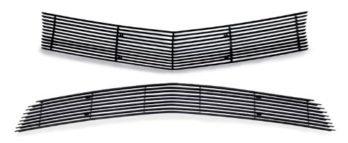 Fits 2010-2013 Chevy Camaro LT/LS V6 Short Style Black Billet Grille Grill Combo # C61077H (Camaro Short compare prices)