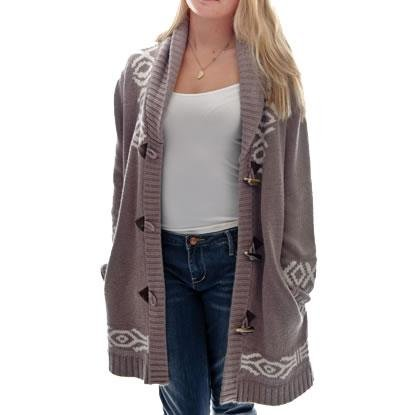 BILLABONG LUDMINA CHUNKY CARDIGAN Soft Sienna