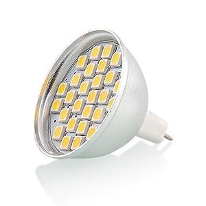 amzdeal® 4 X Bombilla 27SMD 5050 Lámpara de maíz 5W Repuesto Original (blanco frío MR16) Ahorra energía y cuida tu ambiente con la tecnología LED   revisión y más información