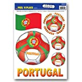 Beistle Peel 'N Place Stickers, 12-Inch by 17-Inch, Portugal