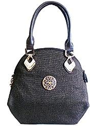Vardhini Fashionista Jute Handbag (Brown)