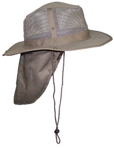 9c673ba4c1d4a Wide Brim Men Safari Outback Summer Hat With Neck Flap (Large