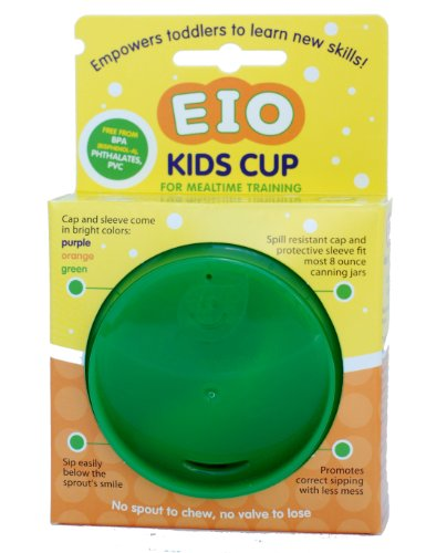 EIO Kids Cup Cap & Sleeve (Glass Jar Is Not Included) (Green)