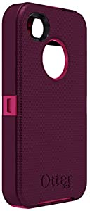 OtterBox Defender Series Case for iPhone 4/4S - Retail Packaging - Pink/Deep Plum