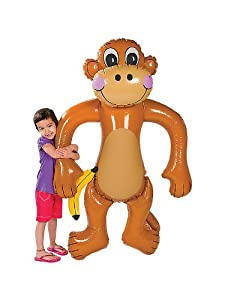 Jumbo Inflatable Monkey -Over 5 Feet Tall!