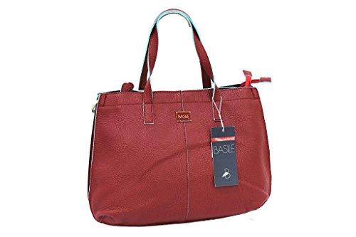 Borsa Donna Basile Shopping A Mano Linea Cannella 8403.3B Bordeaux Moda Italiana