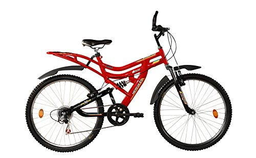 Hercules MTB Turbodrive Dynamite 18 Speed Bicycle (Red)