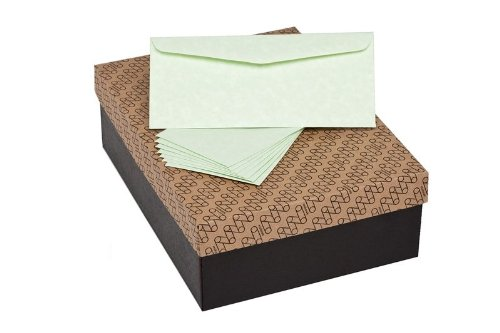 Mohawk Skytone Vellum Parchment Envelopes Spring Green Shade #10 Commercial Flap 4-1/8 X 9-1/2 Inches, 24W (89 Gsm), 500 Envelopes/Box (Sold As 1 Box) (M98603) front-270566