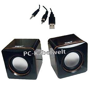 pc kabelwelt usb mini lautsprecher boxen notebook laptop. Black Bedroom Furniture Sets. Home Design Ideas