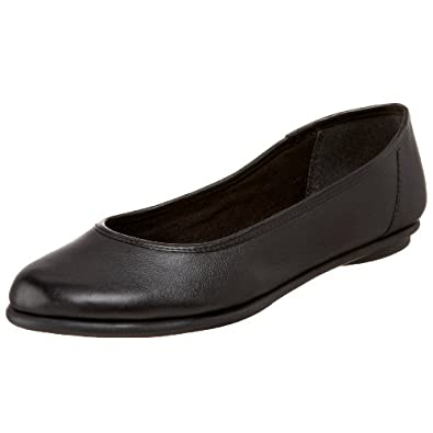 Clarks Women's Book Pump Flat,Black,12 W US