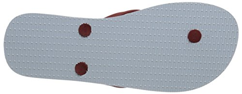 Lacoste Women's Ancelle Slide 116 2 Flip Flop, White/Dark Red, 7 M US
