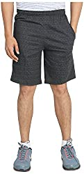 Broche Men's Cotton Shorts (Broche9007_Xl, Grey, X-Large)